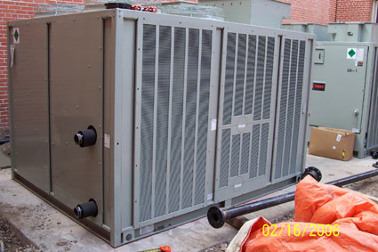 Trane Condenser Unit with Expanded Steel Hail Guards - Air