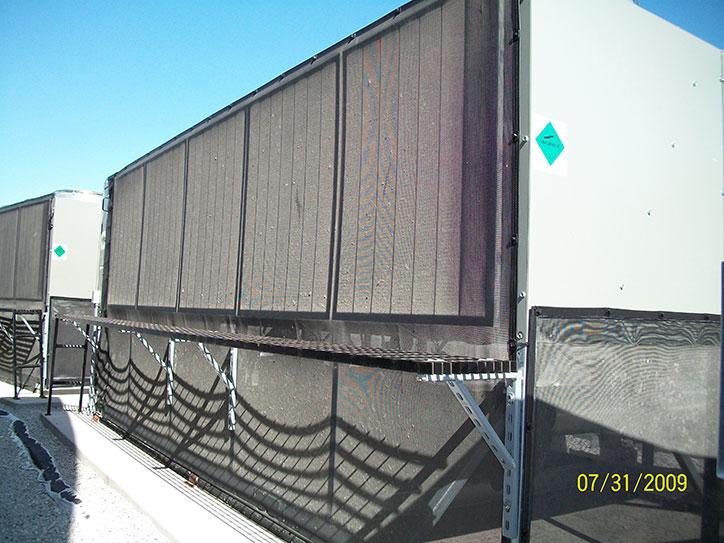 Commercial Air Intake : Hvac intake filter on large tonnage trane chiller air