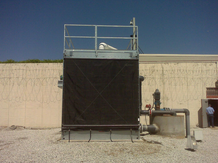 Marley Cooling Tower with Pulley Mount Filter