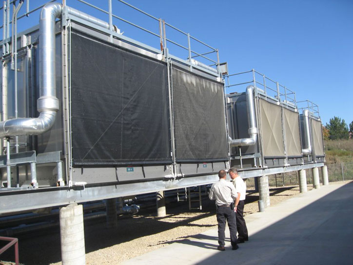 Industrial air intake filtration cooling tower