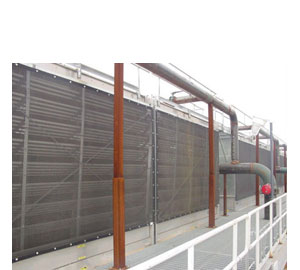 Air Intake Filters Protecting a Process Cooling Tower
