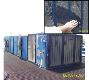Air Intake Filters Protecting Chiller Coils from Cottonwood Seed