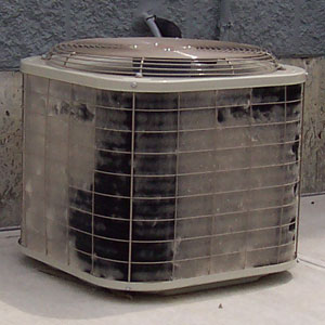 Damaged air condenser