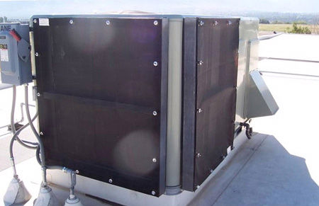 Carrier Condenser with filtration and hail guard protection
