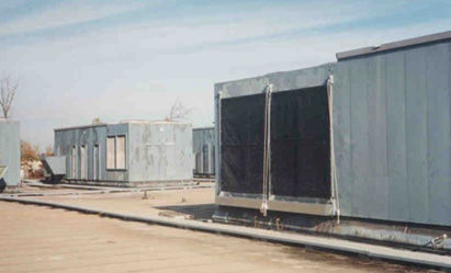 Equipment Protection Filters on large Rooftop Unit with Economizer