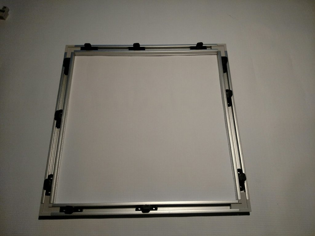 This Frame is Ready to Accept Cottonwood Filter Screens and Magnetically Attach to an Intake Opening.